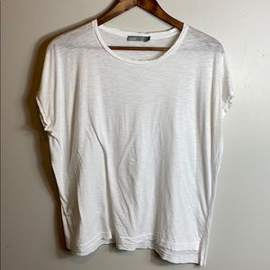 Vince Distressed White Tee Size XS